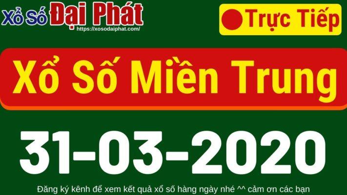 XSMT Ngày 31/3/2020 - Xổ Số Miền Trung, KQXSMT, SXMT 6