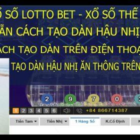 Kubet Lotto Bet | Hướng Dẫn Cách Tạo Dàn Lottobet Hậu Nhị Trên Điện Thoại Hiệu Qủa Nhất | Ku Lotobet 5